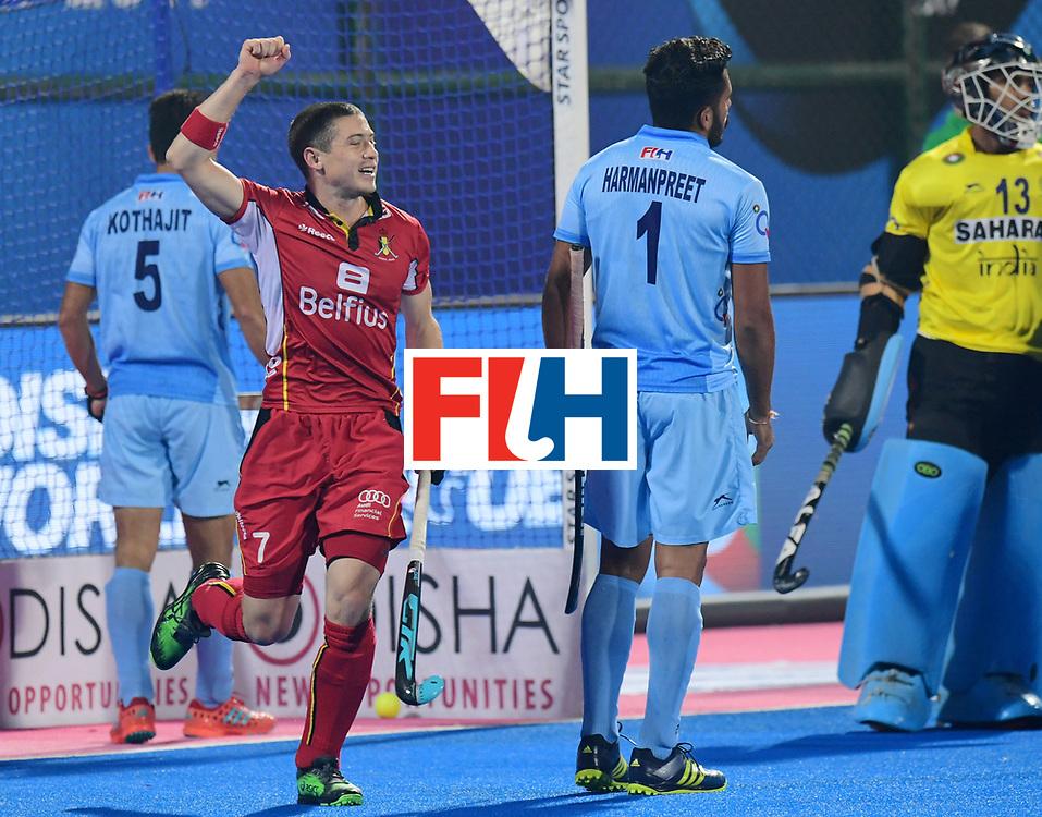 Odisha Men's Hockey World League Final Bhubaneswar 2017<br /> Match id:13<br /> Belgium v India<br /> Foto: John-John Dohmen (Bel) no goal<br /> COPYRIGHT WORLDSPORTPICS FRANK UIJLENBROEK
