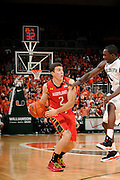 January 13, 2013: Logan Aronhalt #2 of Maryland in action during the NCAA basketball game between the Miami Hurricanes and Maryland Terrapins at the BankUnited Center in Coral Gables, FL. The Hurricanes defeated the Terrapins 54-47.