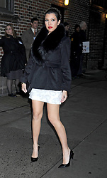 Kourtney Kardashian arrives for The Late Show with David Letterman at Ed Sullivan Theatre, New York City, US, January 16, 2013. Photo by Imago / i-Images...UK ONLY