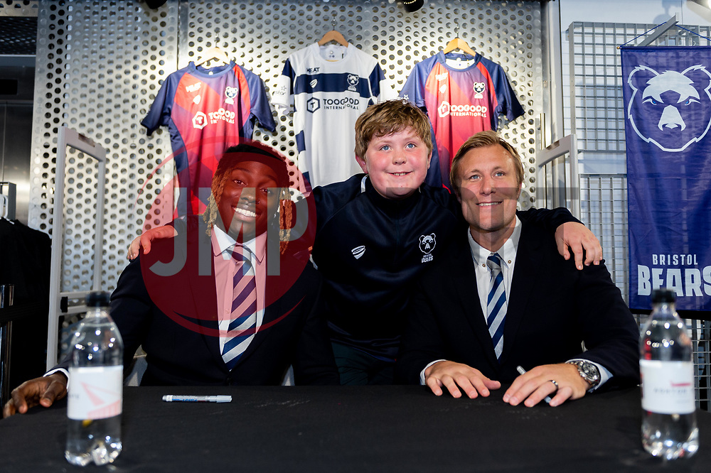 Fans meet with Jordan Crane and Tyrese Johnson-Fisher in the Club Shop prior to kick off  - Mandatory by-line: Ryan Hiscott/JMP - 18/10/2019 - RUGBY - Ashton Gate - Bristol, England - Bristol Bears v Bath Rugby - Gallagher Premiership Rugby