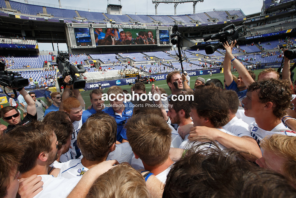 2014 May 26: Head coach John Danowski of the Duke Blue Devils after winning the NCAA championship with a 11-9 win over the Notre Dame Fighting Irish at M&T Bank Stadium in Baltimore, MD.