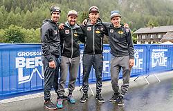 15.07.2017, Heiligenblut, AUT, OeSV, Nordische Kombinierer beim Grossglockner Berglauf, im Bild v.l.: Lukas Klapfer, Trainer Jochen Strobl, David Pommer und Franz Josef Rehrl // Austrian Nordic Combined Team f.l.: Lukas Klapfer, Trainer Jochen Strobl, David Pommer and Franz Josef Rehrl before the Grossglockner Mountain Run, Heiligenblut, Austria on 2017/07/15. EXPA Pictures © 2017, PhotoCredit: EXPA/ JFK