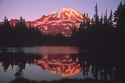 Mt. Rainier in Reflection Lake, Mt. Rainier National Park, Washington, US