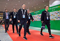 NANNING, CHINA - Thursday, March 22, 2018: Wales' new manager Ryan Giggs and his staff arrive before the opening match of the 2018 Gree China Cup International Football Championship between China and Wales at the Guangxi Sports Centre. (Pic by David Rawcliffe/Propaganda)