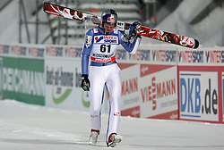 Thomas Morgenstern of Austria felt after landing at final round of Normal Hill Individual Ski jumps at FIS Nordic World Ski Championships Liberec 2008, on February 21, 2009, in Jested, Liberec, Czech Republic. (Photo by Vid Ponikvar / Sportida)