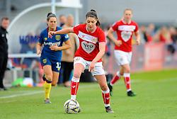 Carla Humphrey of Bristol City in action - Mandatory by-line: Nizaam Jones/JMP - 28/04/2019 - FOOTBALL - Stoke Gifford Stadium - Bristol, England - Bristol City Women v West Ham United Women - FA Women's Super League 1