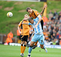 Molineux Wolverhampton v Coventry  Championship (2-1) 18/10/2008<br /> Neil Collins (Wolves) Leon Best (Coventry)<br /> Photo Roger Parker Fotosports International
