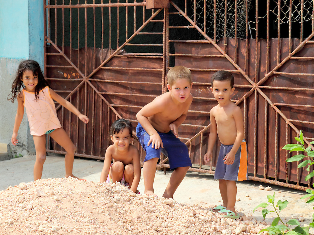 Children in Santa Cruz del Norte, Mayabeque, Cuba.
