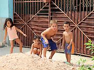 Children in Santa Cruz del Norte, Mayabeque, Cuba.
