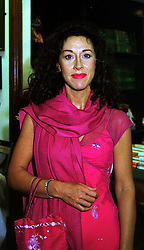 Fashion designer HELEN DAVID at a party in London on 15th September 1999.<br /> MWJ 2