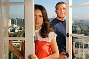 "Antonio Banderas and Salma Hayek will join each other again as they voice characters in the soon to be released animated film ""Boots."" Photographed at the Four Seasons Hotel in Beverly Hills, CA. 10/21/2011(John McCoy/Staff Photographer)"