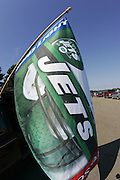 EAST RUTHERFORD, NJ - SEPTEMBER 12:  Jets fans display flags while tailgating at the New York Jets 2004 opening season game against the Cincinnati Bengals at Giants Stadium on September 12, 2004 in East Rutherford, New Jersey. The Jets defeated the Bengals 31-24. ©Paul Anthony Spinelli *** Local Caption *** Flags