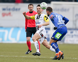 03.03.2018, TGW Arena, Pasching, AUT, 1. FBL, LASK Linz vs SK Puntigamer Sturm Graz, 25. Runde, im Bild v.l. James Holland (LASK Linz), Lukas Spendlhofer (SK Puntigamer Sturm Graz) // during the Austrian Football Bundesliga 25th Round match between LASK Linz und SK Puntigamer Sturm Graz at the TGW Arena in Pasching, Austria on 2018/03/03. EXPA Pictures © 2018, PhotoCredit: EXPA/ Roland Hackl