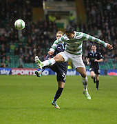 Dundee's Martin Boyle and Celtic's Emilio Izaguirre - Celtic v Dundee, SPFL Premiership at Celtic Park<br /> <br />  - &copy; David Young - www.davidyoungphoto.co.uk - email: davidyoungphoto@gmail.com