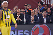 Panagiotis Angelopoulos Olympiakos Piraeus Presidente Basket, Christos Stavropoulos<br /> Fenerbahce Istanbul - Olympiakos Piraeus<br /> Euroleague Final Four 2017<br /> Finale 1 - 2 Posto<br /> Euroleague 2016/2017<br /> Istanbul, 21/05/2017<br /> Foto M.Ceretti / Ciamillo - Castoria