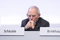 22 NOV 2019, LEIPZIG/GERMANY:<br /> Wolfgang Schaeuble, CDU, Praesident des Deutschen Bundestages, CDU Bundesparteitag, CCL Leipzig<br /> IMAGE: 20191122-01-014<br /> KEYWORDS: Parteitag, party congress, Wolfgang Schäuble