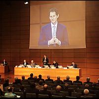 nella fotografia: il presidente di Fiat John Elkann.. Torino, 30 marzo 2011, assemblea degli azionisti della Fiat al Lingotto.