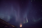 antarctic night aurora