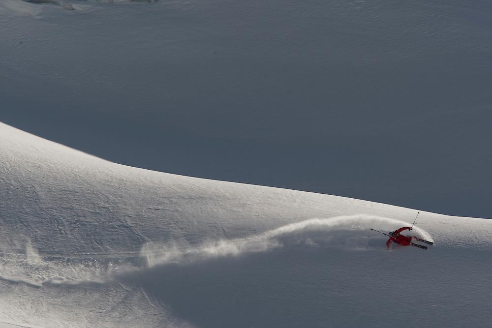 Rider: Dominique Perret Location Valais Alps (Switzerland)