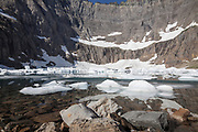 MT00120-00...MONTANA - Iceberg Lake in Glacier National Park.