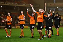 Wolverhampton Wanderers players celebrate at full time - Mandatory by-line: Matt McNulty/JMP - 31/01/2017 - FOOTBALL - Oakwell Stadium - Barnsley, England - Barnsley v Wolverhampton Wanderers - Sky Bet Championship