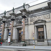 The front of the building of the Royal Museums of Fine Arts in Belgium (in French, Musées royaux des Beaux-Arts de Belgique), one of the most famous museums in Belgium. The complex consists of several museums, including Ancient Art Museum (XV - XVII century), the Modern Art Museum (XIX ­ XX century), the Wiertz Museum, the Meunier Museum and the Museé Magritte Museum.
