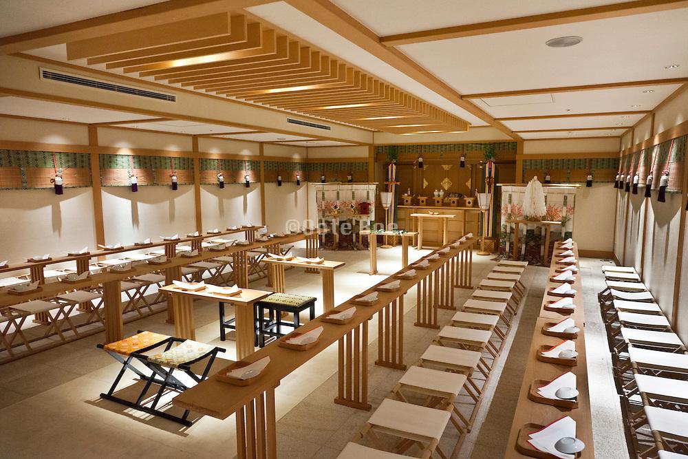 traditional Japanese wedding chapel inside Hotel Yokohama Garden