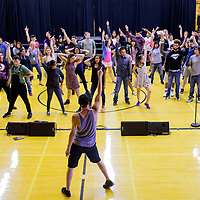 Dancers rehearse their finale performance during the Young Americans summer camp at Crownpoint High School May 25.