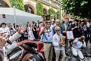 Como, Italy, Concorso d'Eleganza Villa D'Este, the winner Alfa Romeo 33/2 Stradale , entrant Albert Spiess