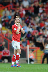 Bristol City's Wade Elliott cuts a dejected figure after giving the ball away - Photo mandatory by-line: Dougie Allward/JMP - Mobile: 07966 386802 - 27/09/2014 - SPORT - Football - Bristol - Ashton Gate - Bristol City v MK Dons - Sky Bet League One