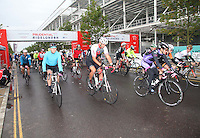 {Prudential RideLondonSurrey100 start with Martin Johnson leads off the pack}<br /> Prudential RideLondon, the world's greatest festival of cycling, involving 70,000+ cyclists – from Olympic champions to a free family fun ride - riding in five events over closed roads in London and Surrey over the weekend of 9th and 10th August. <br /> <br /> Photo: Roger Allen for Prudential RideLondon<br /> <br /> See www.PrudentialRideLondon.co.uk for more.<br /> <br /> For further information: Penny Dain 07799 170433<br /> pennyd@ridelondon.co.uk