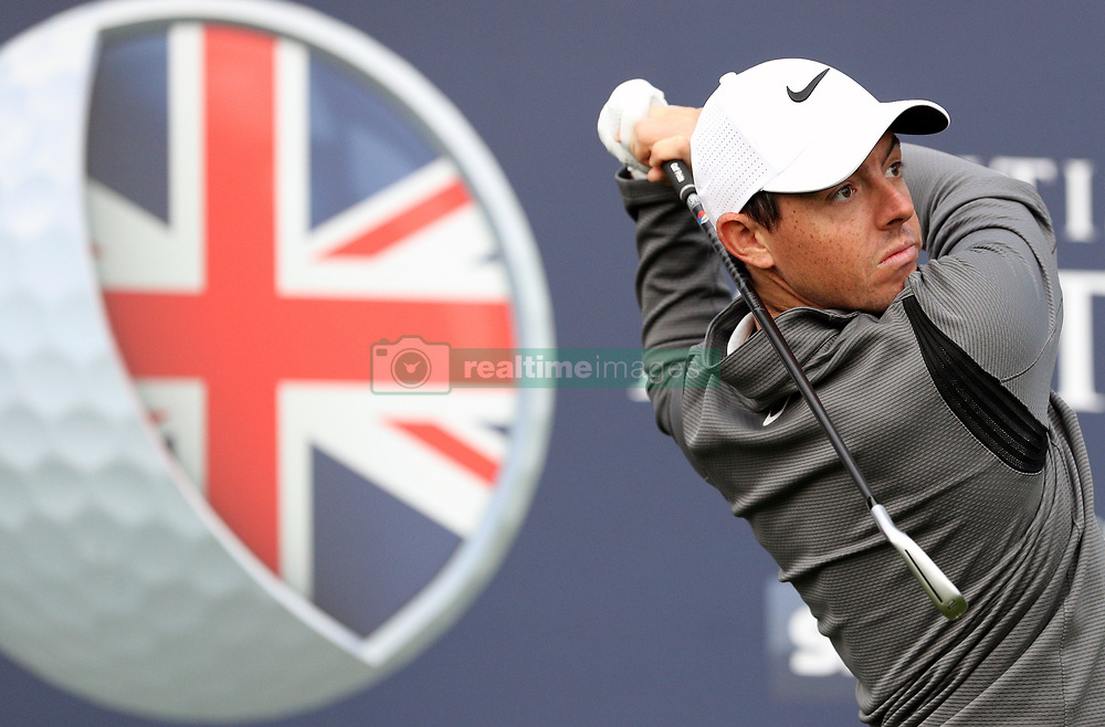 Northern Ireland's Rory McIlroy tees off on the 4th during the Pro-Am day of the British Masters at Close House Golf Club, Newcastle.