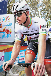 February 14, 2018 - Lagos, Portugal - Ryan Mullen of Trek-Segafredo before the 1st stage of the cycling Tour of Algarve between Albufeira and Lagos, on February 14, 2018. (Credit Image: © Str/NurPhoto via ZUMA Press)