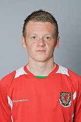 SWANSEA, WALES - Monday, March 30, 2009: Wales' Under-21 Jake Taylor. (Photo by David Rawcliffe/Propaganda)