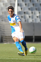 CAPE TOWN, South Africa - Monday 21 January 2013, Levent Gulen of Grasshopper Club Zurich during the soccer/football match Grasshopper Club Zurich (Switzerland) and Jomo Cosmos at the Cape Town stadium..Photo by Roger Sedres/ImageSA