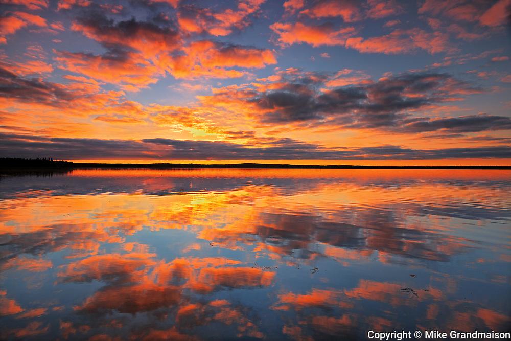 Morning reflection in Namekus Lake<br />Prince Albert National Park<br />Saskatchewan<br />Canada