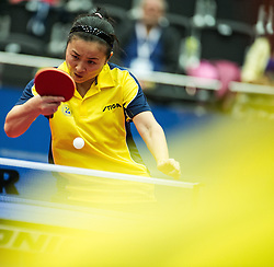 13.10.2013, Multiversum, Schwechat, AUT, Tischtennis Europameisterschaft 2013, Finale Einzel Damen, im Bild Fen Li (SWE) // during Women Single Final of the table tennis european championship 2013 at Multiversum in Vienna, Austria on 2013/10/13. EXPA Pictures © 2013 PhotoCredit: EXPA/ Michael Gruber