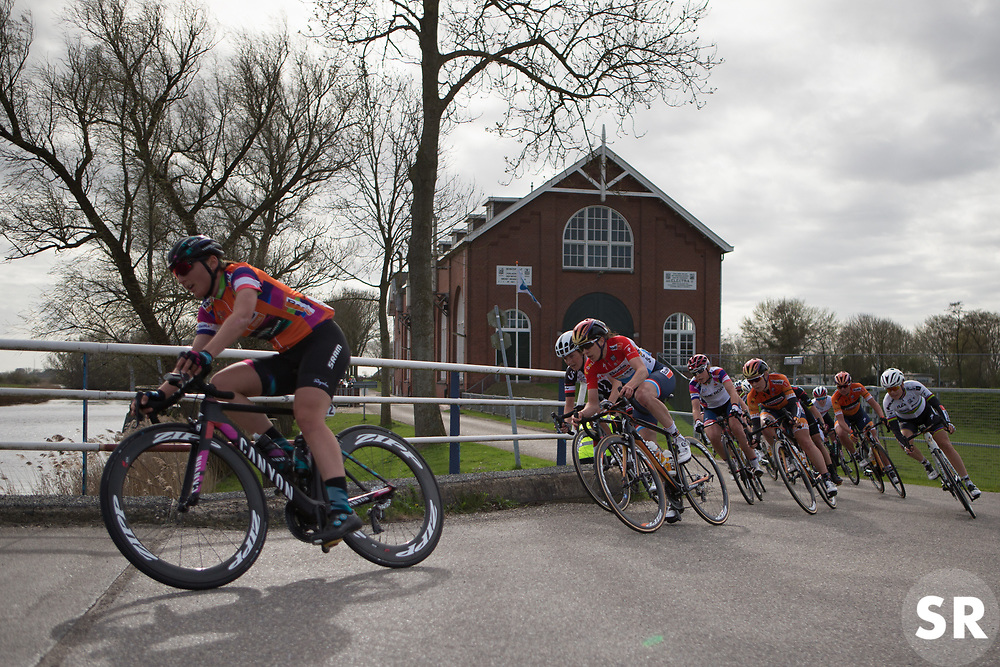Christine Majerus (LUX) of Boels-Dolmans Cycling Team rides in the front group during Stage 1b of the Healthy Ageing Tour - a 77.6 km road race, starting and finishing in Grijpskerk on April 5, 2017, in Groeningen, Netherlands.