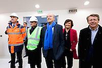 Dominique Fondacci / Alain Juppe / Arielle Piazza / Thierry Guichard - 23.03.2015 - Visite du Stade de Bordeaux -<br /> Photo : Caroline Blumberg / Icon Sport *** Local Caption ***