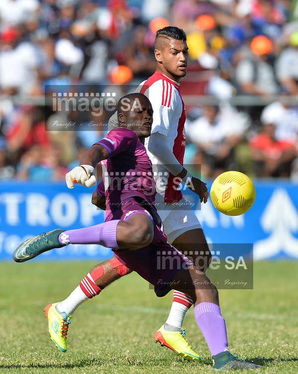 CAPE TOWN, SOUTH AFRICA - Monday 28 March 2016, Mondli Mpoto of Supersport United during the final between Ajax Cape Town and Supersport United during the final day of the Metropolitan U19 Premier Cup at Erica Park in Belhar. <br /> Photo by Roger Sedres/ImageSA