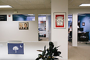 Executive Director Tim Miller works in his office at America Rising is a political action committee out of Rosslyn, Va.