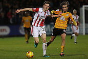 Rob Dickie and Luke Berry during the EFL Sky Bet League 2 match between Cambridge United and Cheltenham Town at the R Costings Abbey Stadium, Cambridge, England on 26 November 2016. Photo by Antony Thompson.
