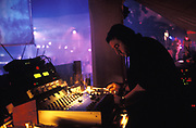 DJ perfoming at a club in Ibiza, 1999.