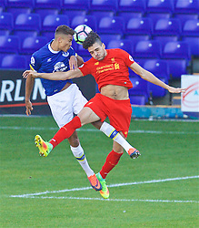 BIRKENHEAD, ENGLAND - Sunday, October 23, 2016: Liverpool's Tiago Ilori in action against Everton during the Mini-Derby FA Premier League 2 Under-23 match at Prenton Park. (Pic by David Rawcliffe/Propaganda)