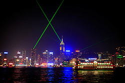 HONG KONG 27FEB08 - A Symphony of Lights show on the Hong Kong Skyline, seen from Tsim Sha Tsui waterfront, Kowloon, Kong Kong...jre/Photo by Jiri Rezac..© Jiri Rezac 2008..Contact: +44 (0) 7050 110 417.Mobile:  +44 (0) 7801 337 683.Office:  +44 (0) 20 8968 9635..Email:   jiri@jirirezac.com..Web:    www.jirirezac.com..© All images Jiri Rezac 2008 - All rights reserved.