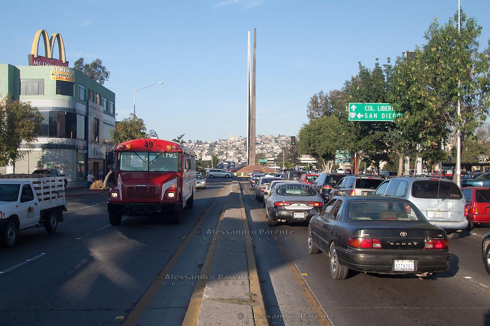 Il centro di Tijuana.
