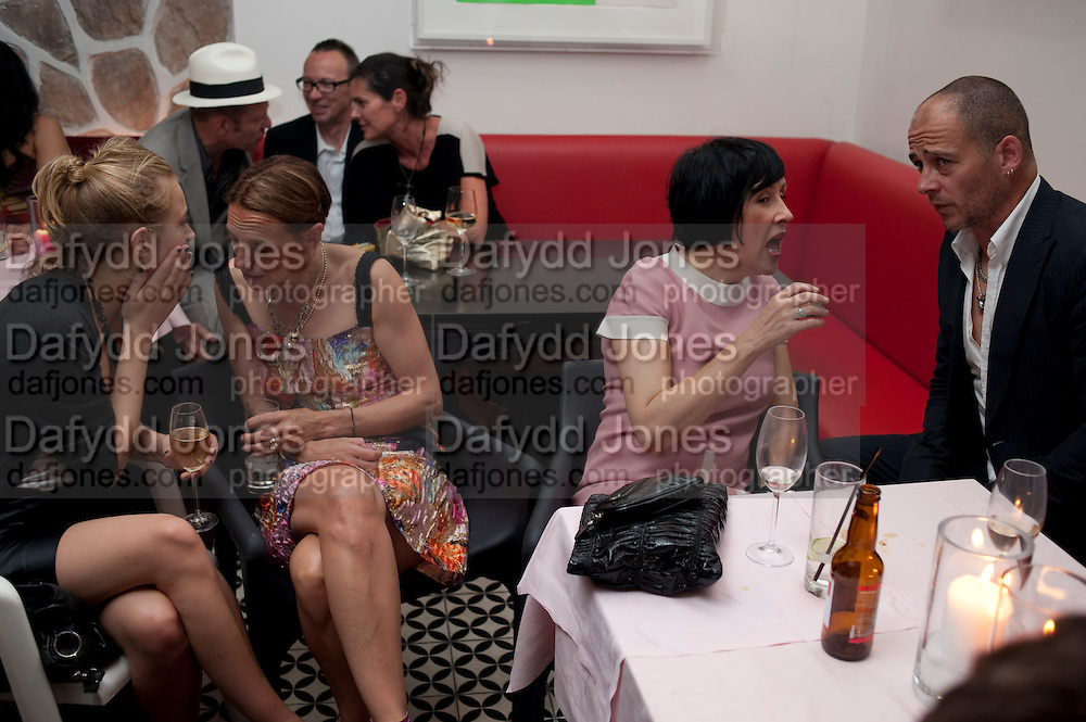 POLLY MORGAN;  TIPHAINE DE LUSSIS; ALICE RAWTHORN; DINOS CHAPMAN,  , Prada Congo Benefit party. Double Club. Torrens Place. Angel. London. 2 July 2009.