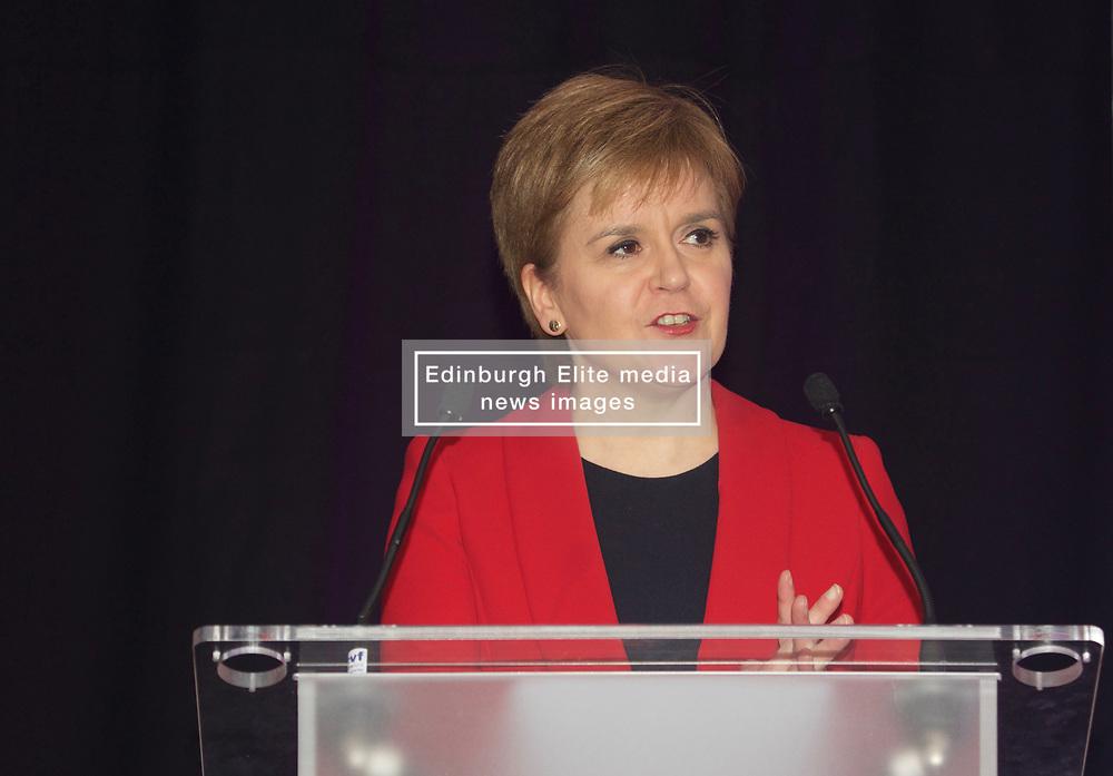 First Minister Nicola Sturgeon spoke to business leaders at the SCDI Forum, Sheraton Hotel, Edinburgh. Pic copyright Terry Murden @edinburghelitemedia