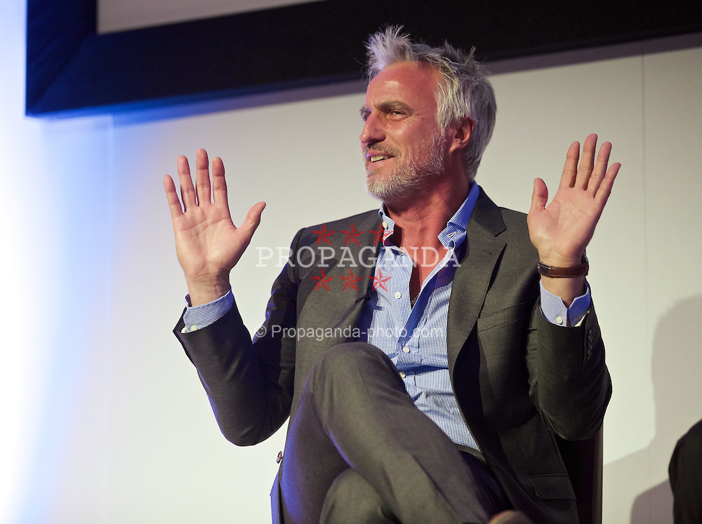 NEWPORT, WALES - Friday, May 29, 2015: David Ginola during the Football Association of Wales' National Coaches Conference 2015 at the Celtic Manor Resort. (Pic by David Rawcliffe/Propaganda)