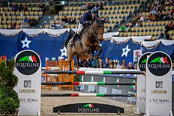 VAN HEEL Arne (NED), Clarinette<br /> München - Munich Indoors 2019<br /> Equiline Youngster Cup 2019<br /> 2. Qualifikation für 7jährige Nachwuchspferde, <br /> Springprüfung nach Fehlern und Zeit, international<br /> Höhe: 1.35m<br /> 23. November 2019<br /> © www.sportfotos-lafrentz.de/Stefan Lafrentz